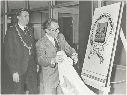 opening  station Schiphol 1979. Foto archief Dick de Waal Malefijt