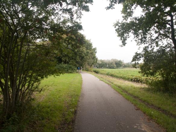 Het oude spoor tussen Santpoort en Driehuis