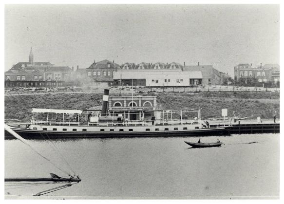 Het eerste station IJmuiden in 1890. Foto: Beeldbank Noord-Hollands Archief