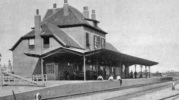 Station IJmuiden rond 1900. Foto: Beeldbank Noord-Hollands Archief