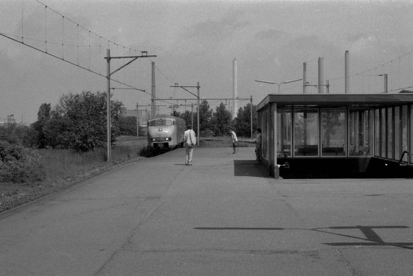 Sattion Velsen IJmuiden-Oost in 1983. Foto: Leo A. van Leeuwen