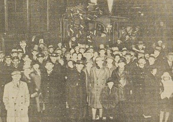 Afscheid van de stoomtram op 30 december 1932