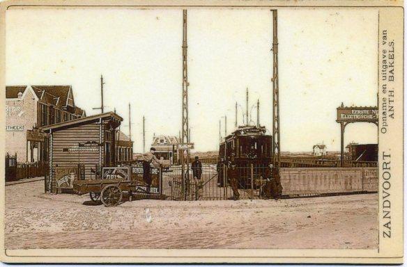 Tramstation Zandvoort. Foto: collectie Stichting Historisch Genootschap De Blauwe Tram