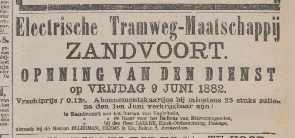 Een advertentie uit Het Nieuws van den Dag