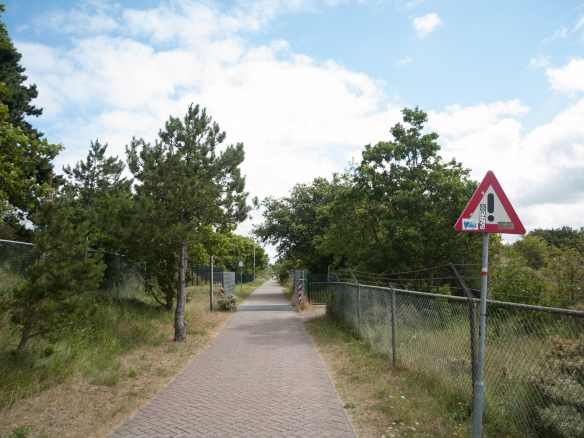De oude trambaan, net buiten Zandvoort