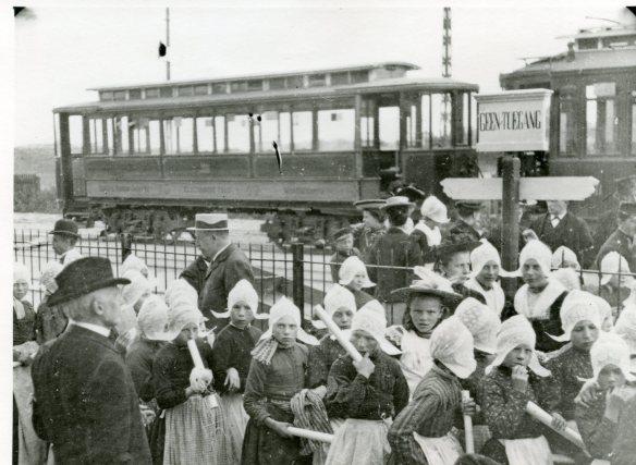 Tramstation Zandvoort. Foto: collectie Historisch Genootschap De Blauwe Tram