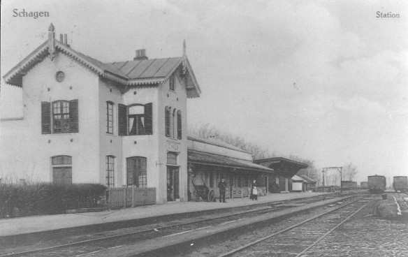 Station Schagen rond 1920. Foto: collectie Peter Collet.
