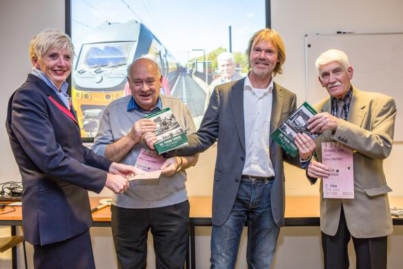 Astrid de Jong, Peter Collet, ikzelf en Jan de Graaf. Foto: DNP/Bastiaan Schuit
